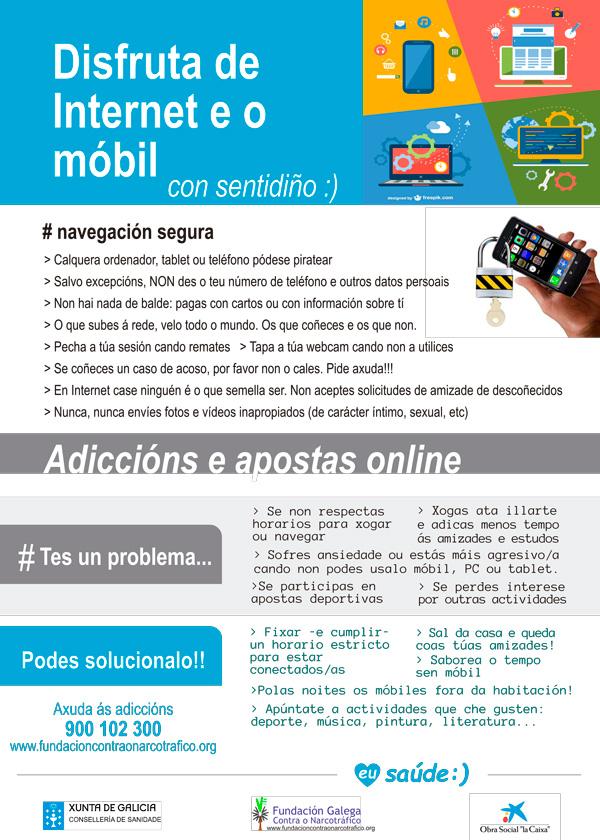 Información e prevención de adiccións - Internet e o móvil
